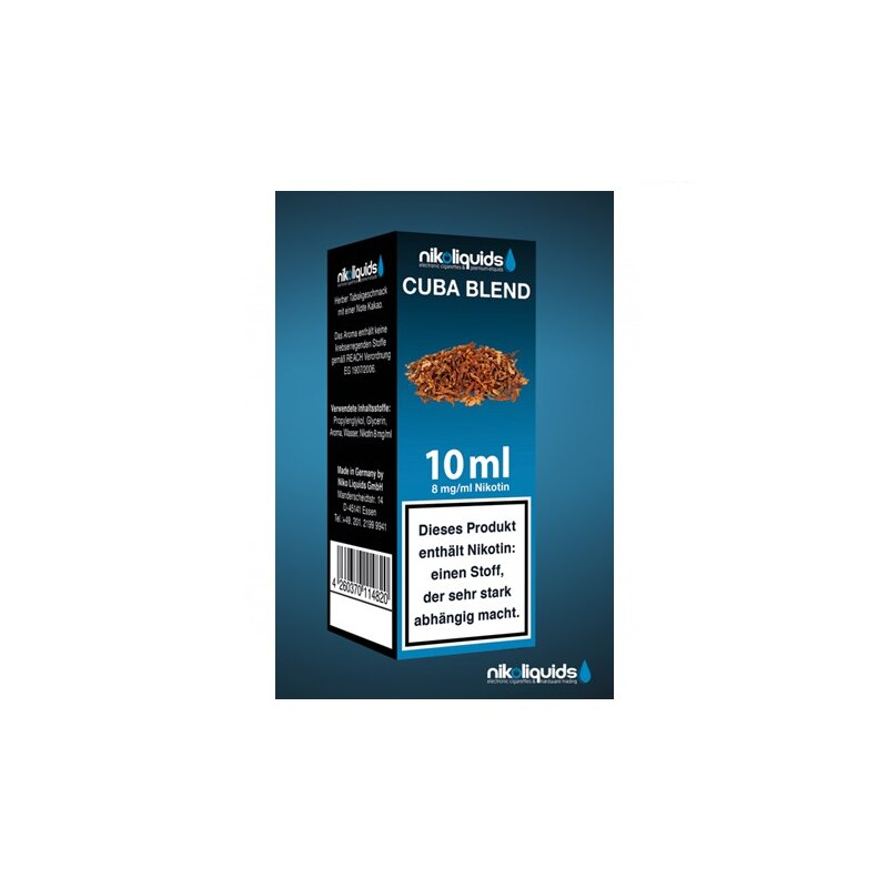 Nikoliquid Cuba Blend Liquid 10ml