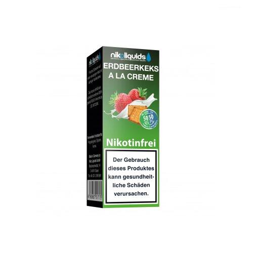 Nikoliquid 50-50 Liquid Erdbeerkeks a la Creme