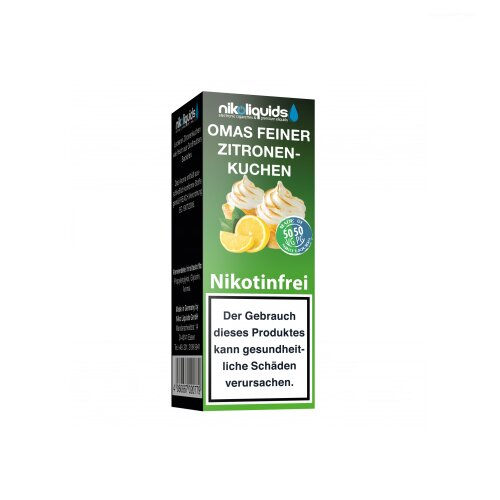 Nikoliquid 50-50 Liquid Omas Feiner Zitronenkuchen