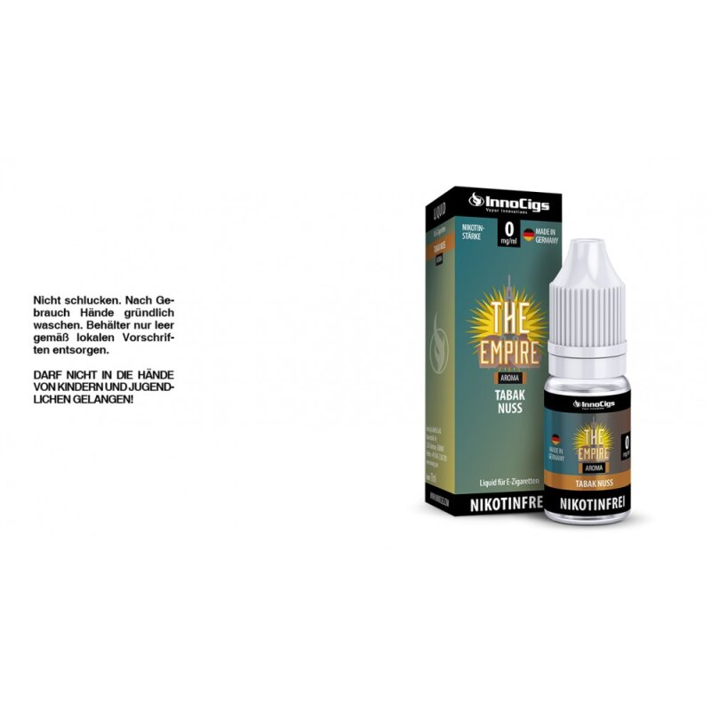 InnoCigs Liquid The Empire Tabak Nuss - 0mg