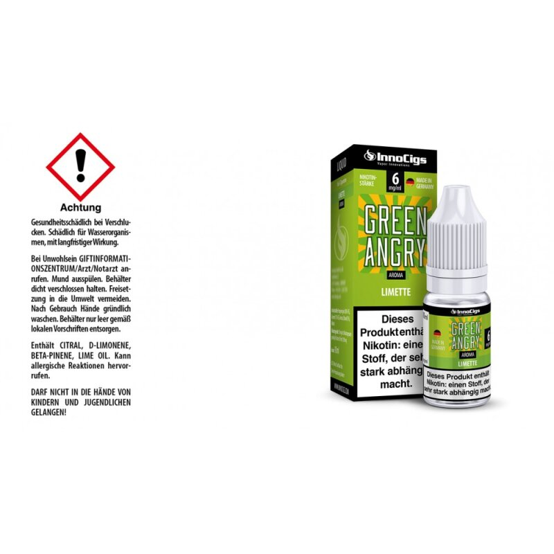 InnoCigs Liquid Green Angry Limette - 6mg
