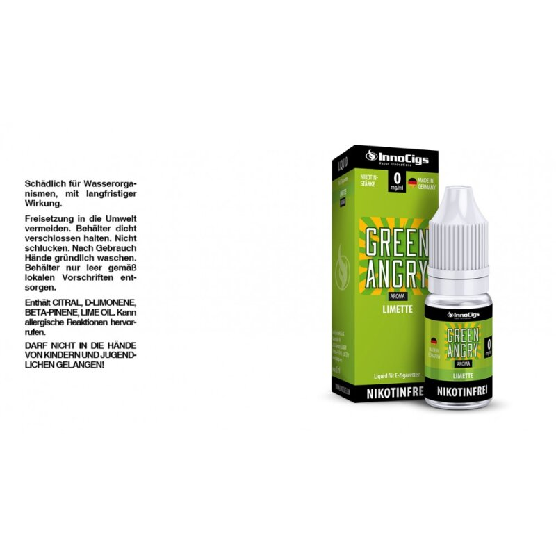 InnoCigs Liquid Green Angry Limette - 18mg