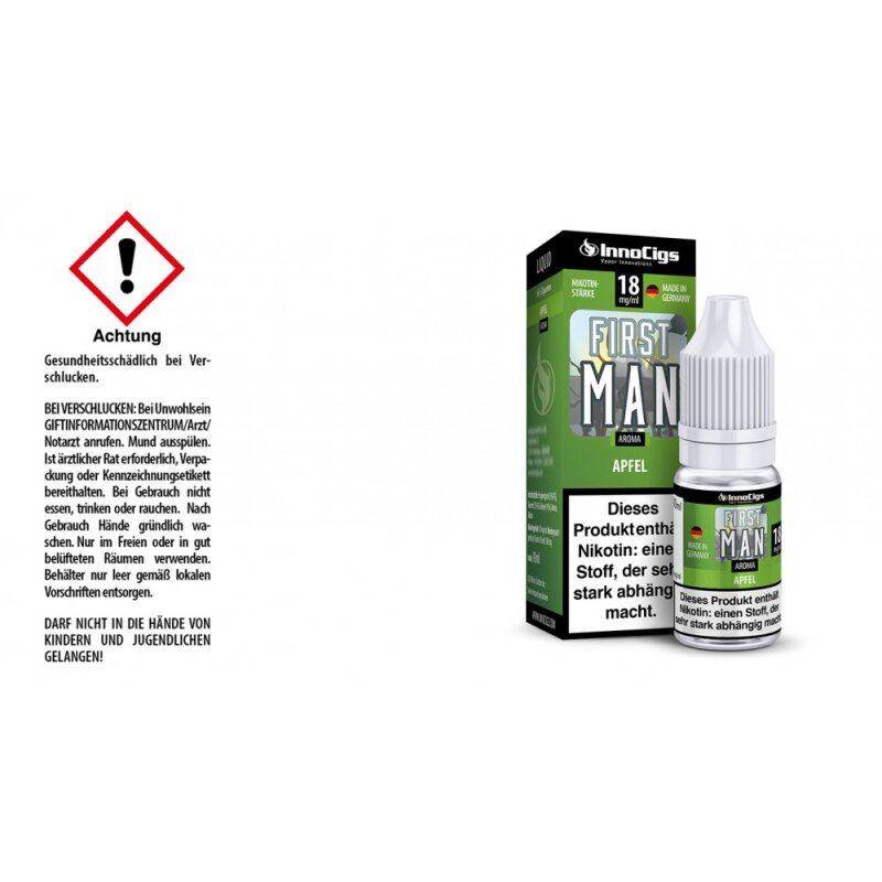 InnoCigs Liquid First Man Apfel - 18mg