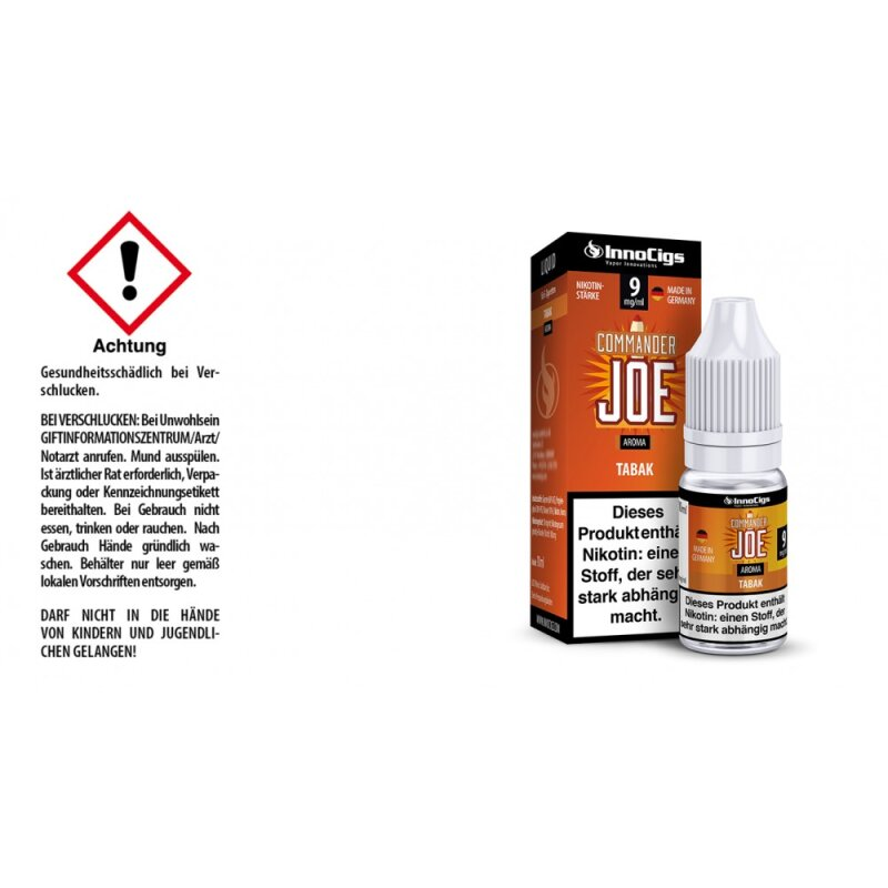 InnoCigs Liquid Commander Joe Tabak - 9mg